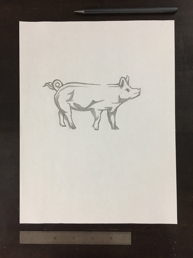 Original drawing #053 - Pig