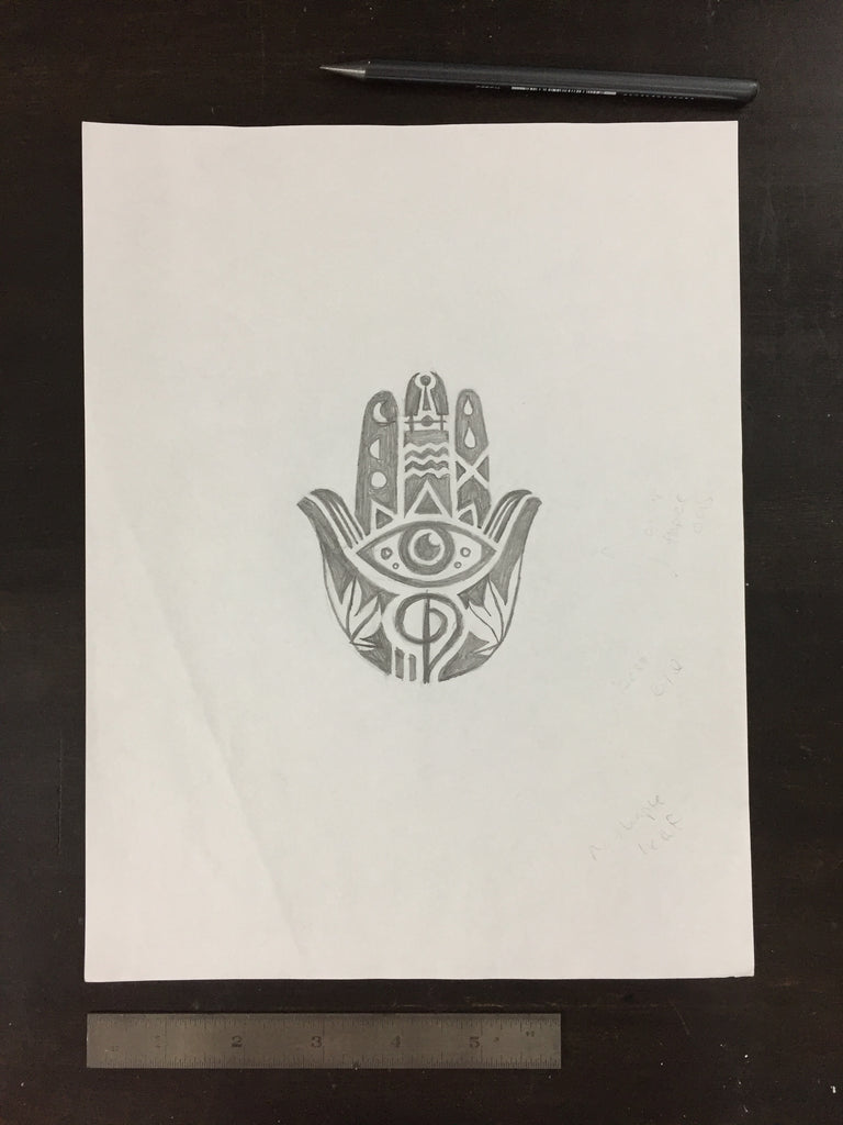 Original drawing #056 - Hamsa Hand 2