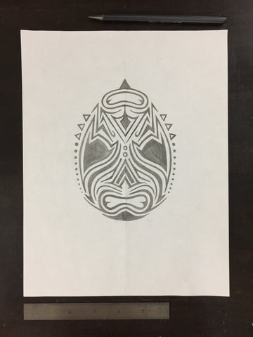 Original drawing #057 - Reversible Lucha Mask