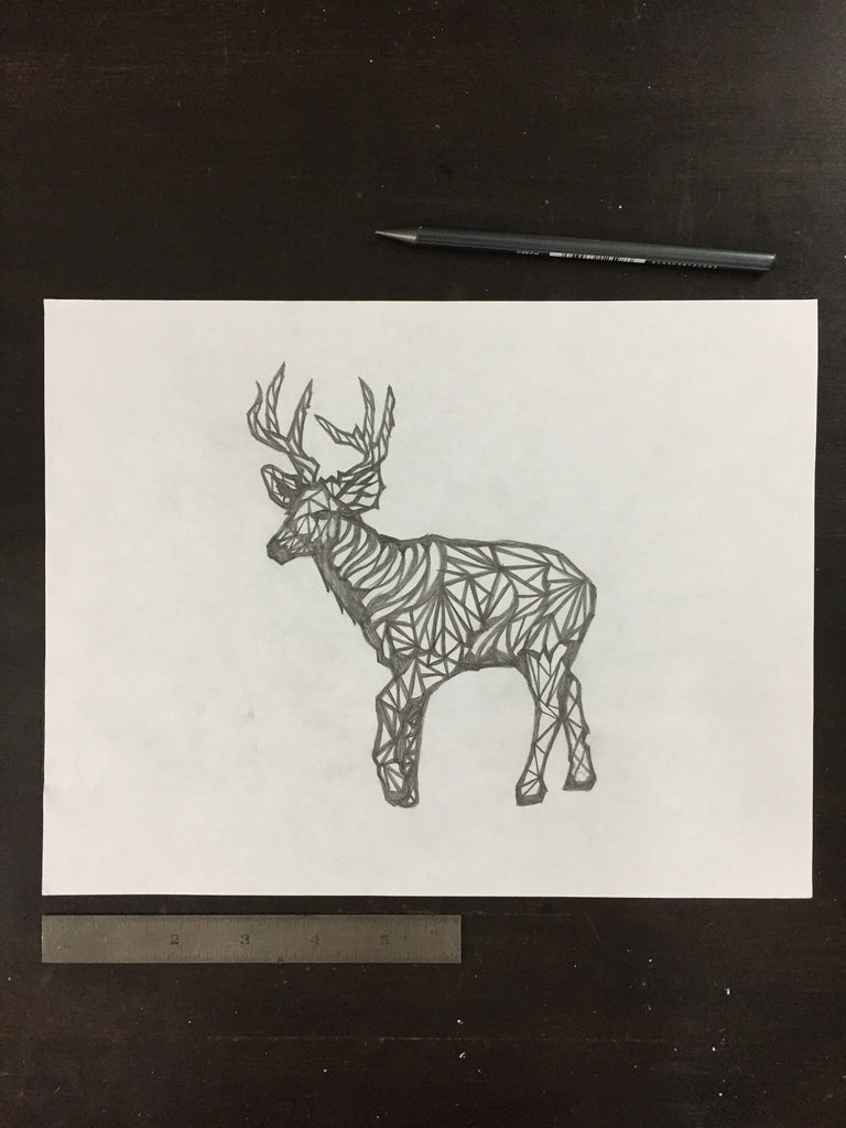 Original drawing #062 - Geometric Deer