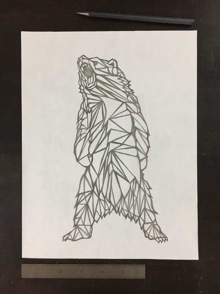 Original drawing #063 - Geometric Bear
