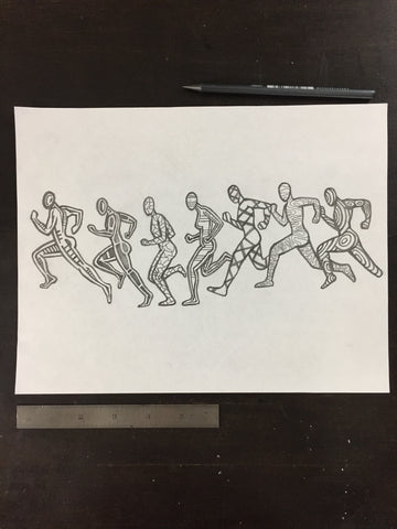 Original drawing #064 - Run Cycle