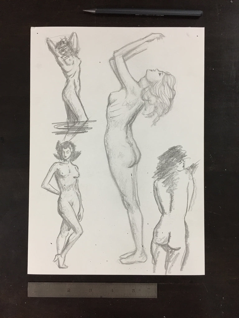 Original drawing #067 - Figure Studies