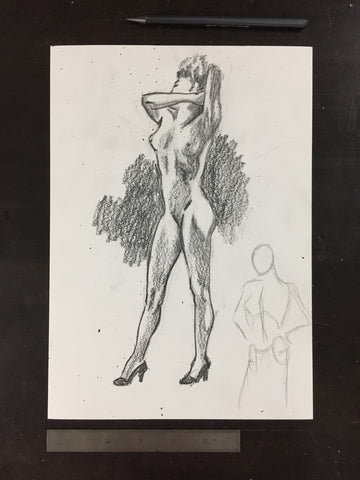 Original drawing #068 - Figure Study
