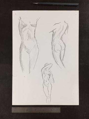 Original drawing #069 - Figure Studies