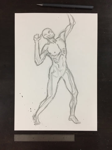 Original drawing #071 - Figure Study