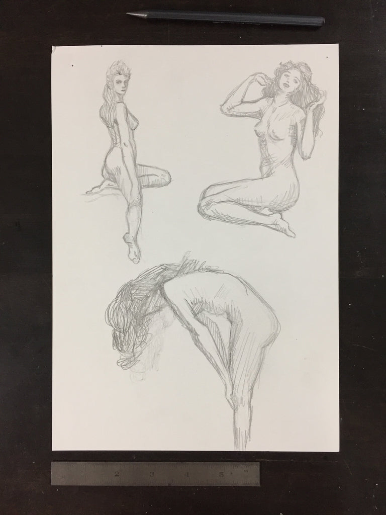 Original drawing #072 - Figure Studies