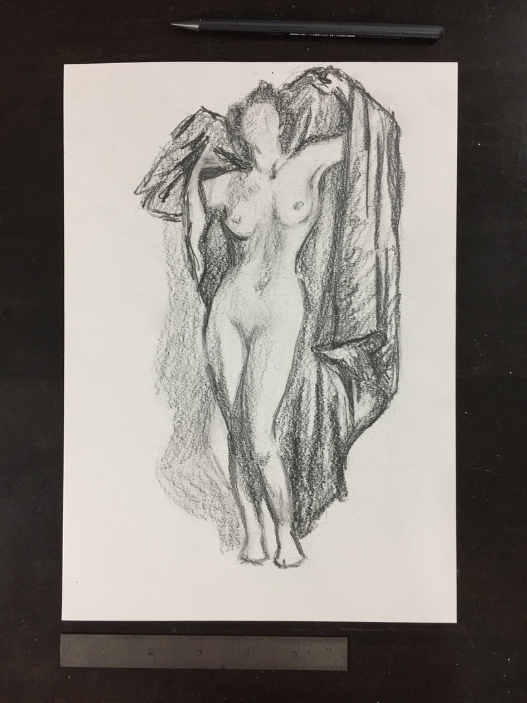 Original drawing #074 - Figure Study