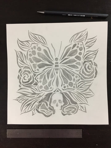 Original drawing #083 - Drawing for a Stencil