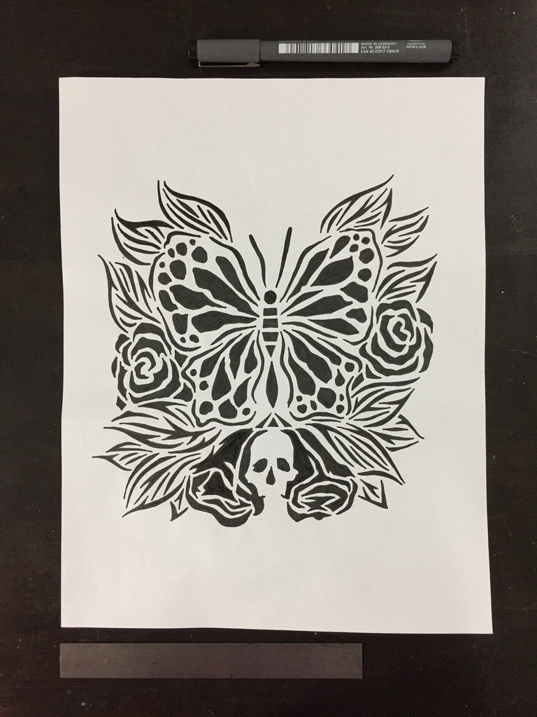 Original drawing #084 - Drawing for a Stencil Ink