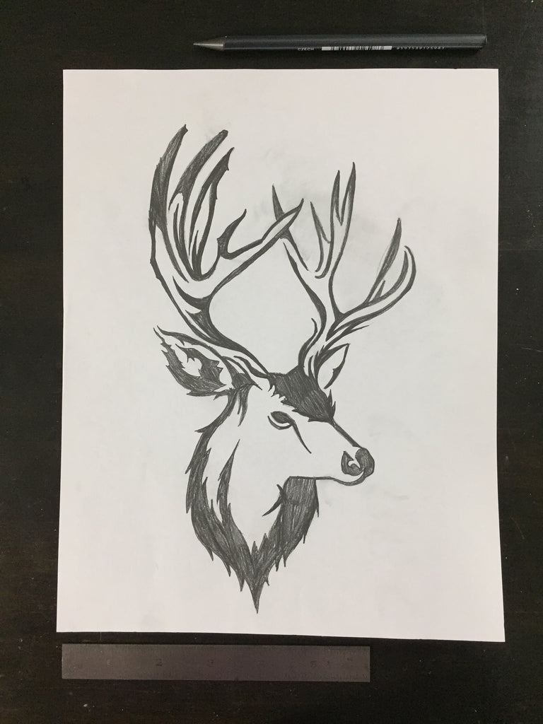 Original drawing #086 - Deer