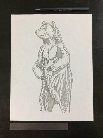 Original drawing #088 - Grizzly