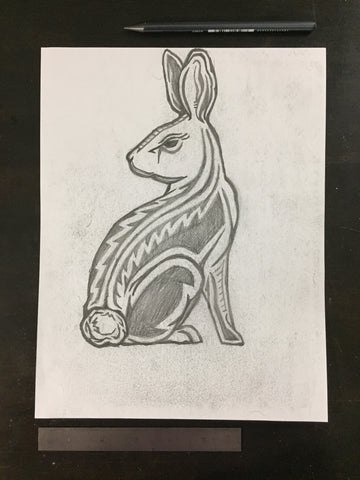Original drawing #090 - Rabbit