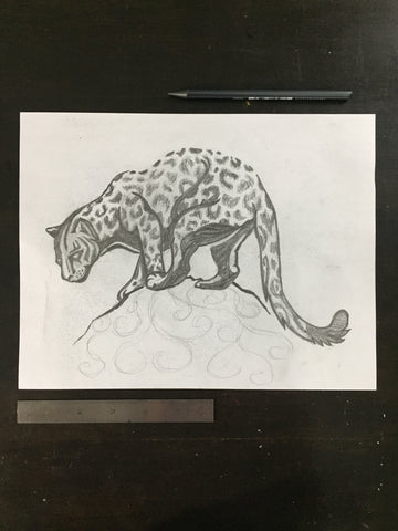 Original drawing #092 - Leopard