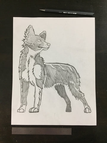 Original drawing #093 - Border Collie