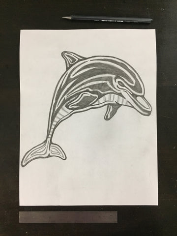 Original drawing #097 - Dolphin