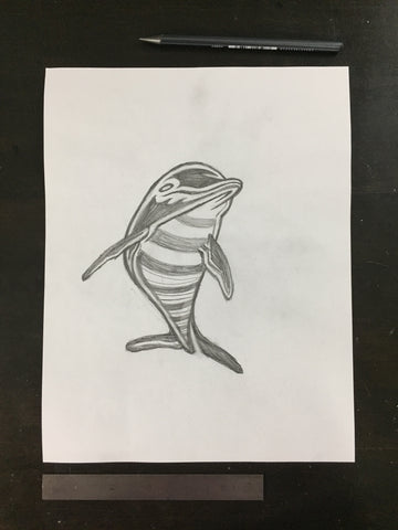 Original drawing #098 - Dolphin
