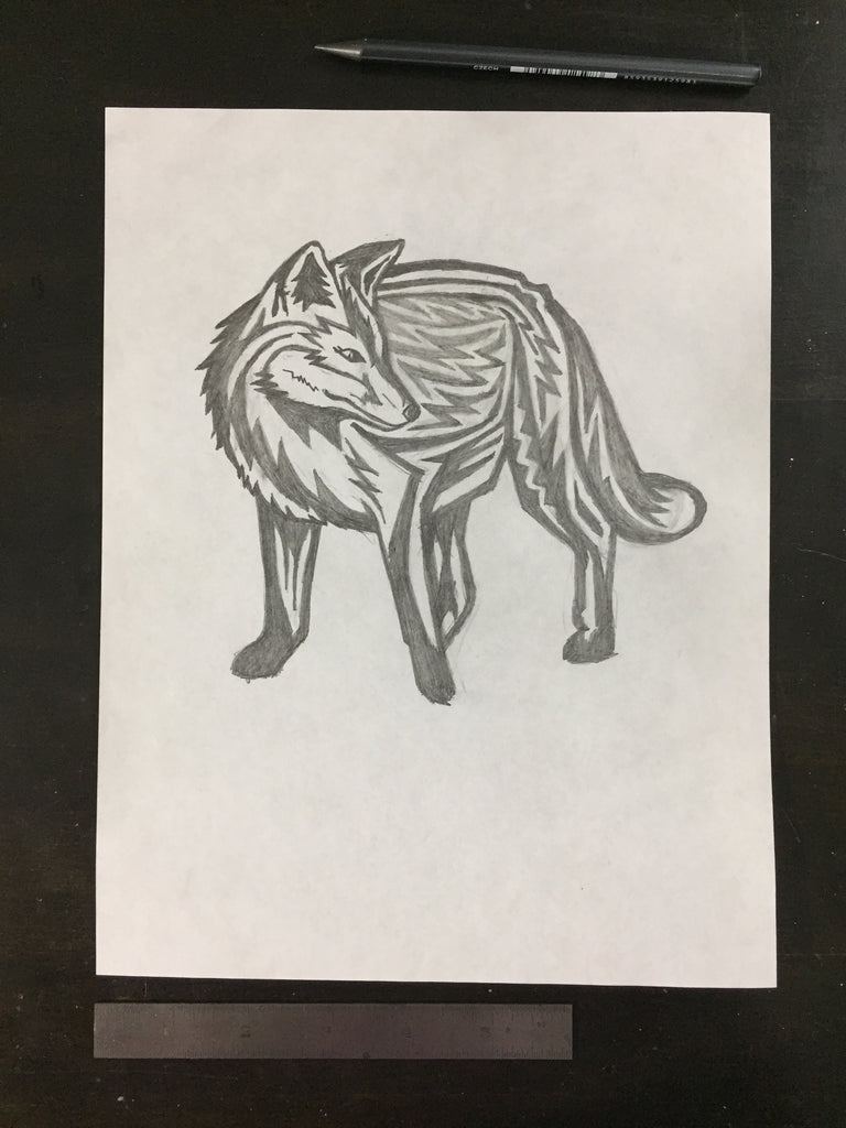 Original drawing #099 - Fox