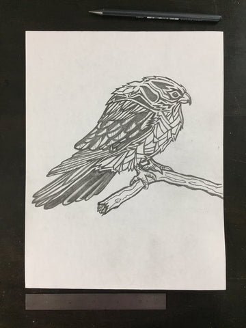Original drawing #100 - Falcon
