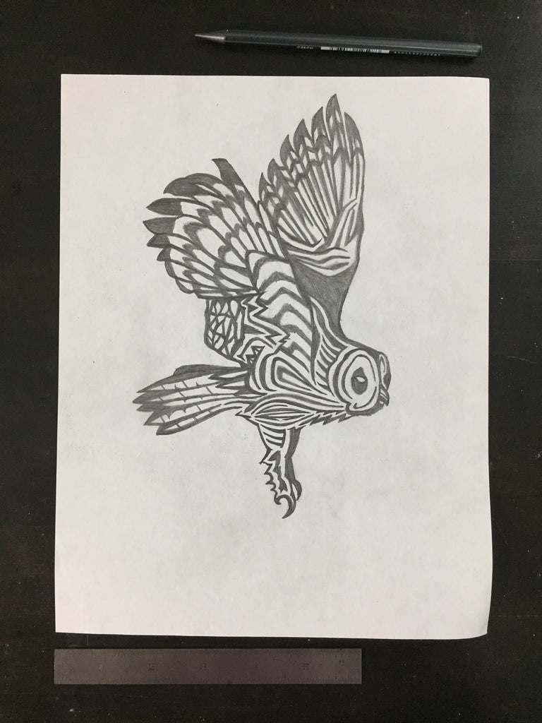 Original drawing #102 - Owl