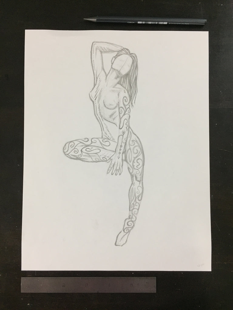 Original drawing #108 - Perfect Deconstruction Figure 2