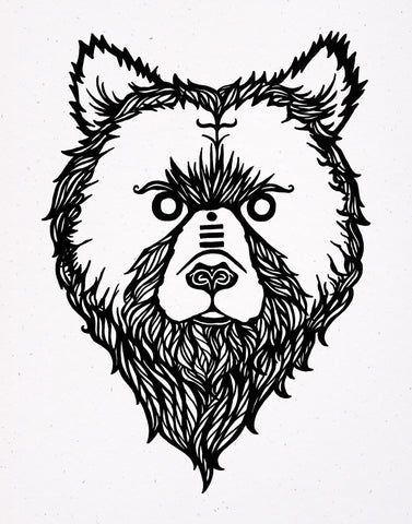 The Stoic Grizzly Signed - Print