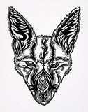 Decorated Jackal - Signed Print