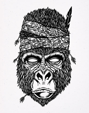 Gorilla Fighter - Print