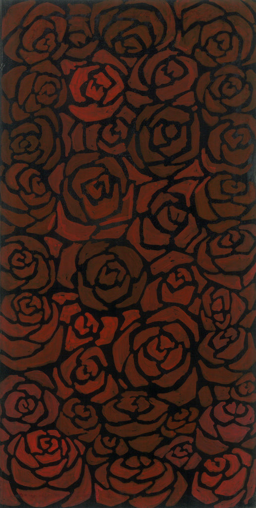 Cluster of Roses Painting