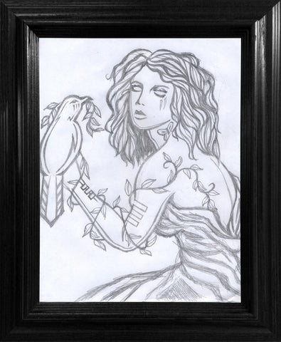 Mother Beyond Nature Drawing - Framed