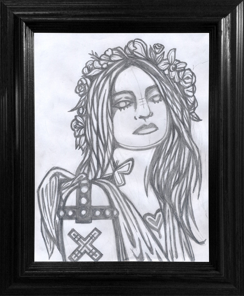 Valkyrie Drawing - Framed