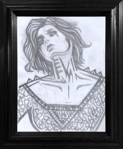 Viscous Ecstasy Drawing - Framed