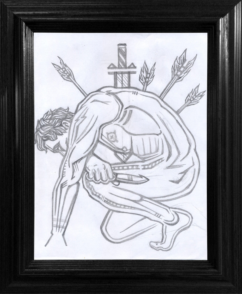 My Turn Drawing - Framed