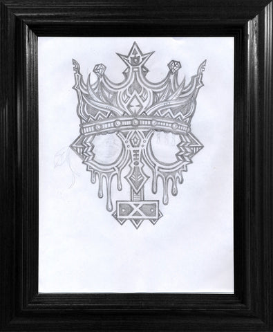 Kings Crown Drawing - Framed