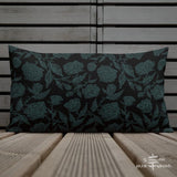 Roses Pillow - BlueGreen