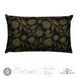Roses Pillow - Gold