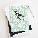 Larkspur with Magnolia Warbler Sketchbook Journal - Blank