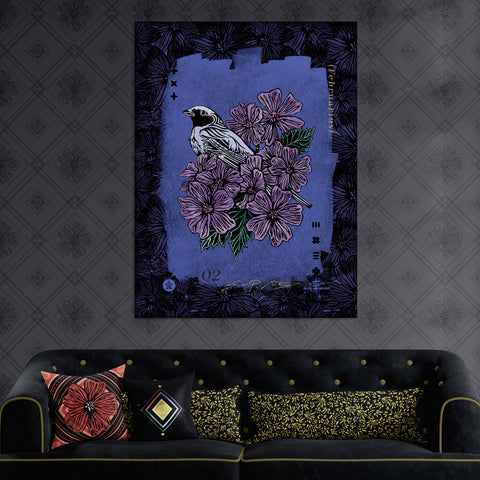 February • (Februarius) #3 Magnolia Large Velvet Wall Décor