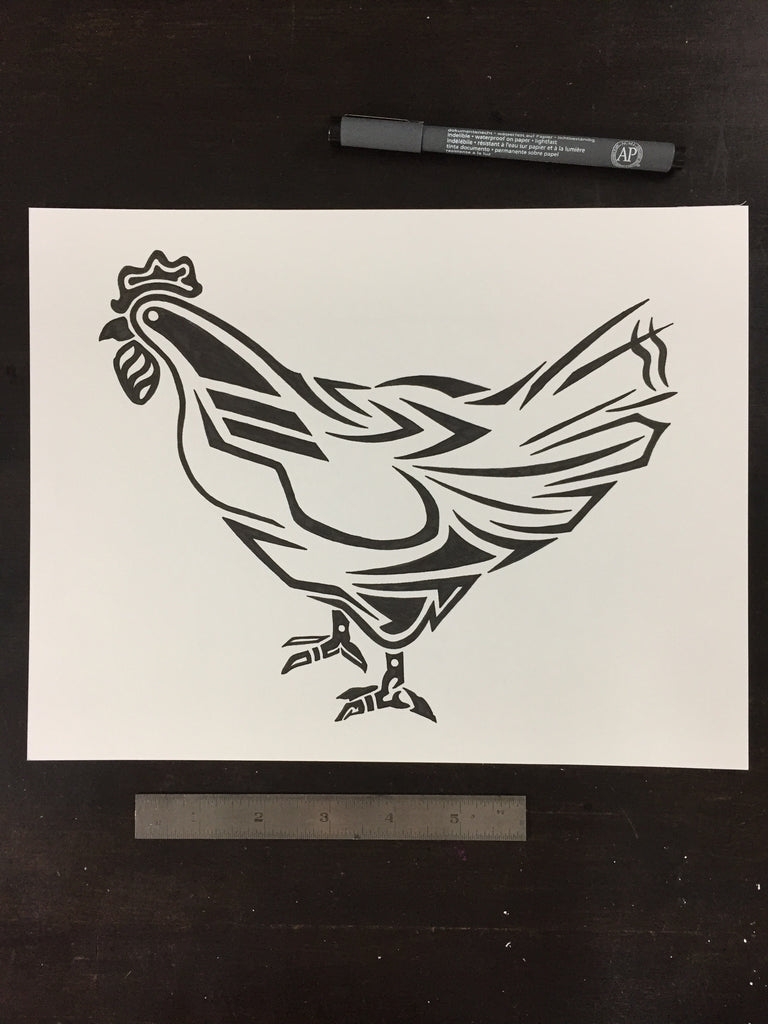 Original drawing #005 - Rooster