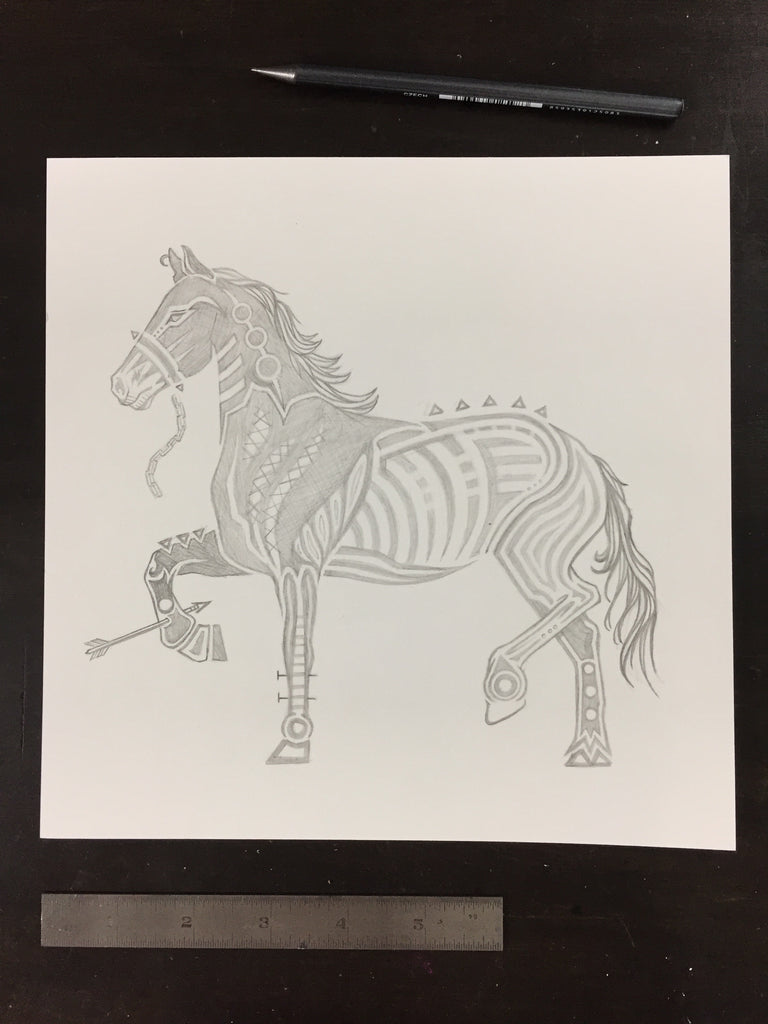 Original drawing #002 - Horse
