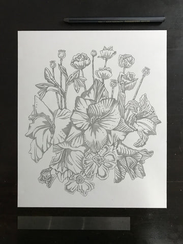 Original drawing #110 - Flowers of the Muse