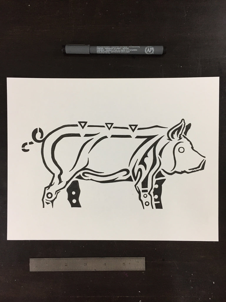 Original drawing #003 - Pig