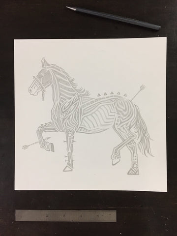 Original drawing #101 - Stallion