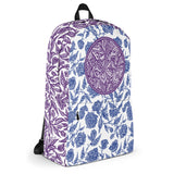 Flourish Collage - Backpack Purple and Blue