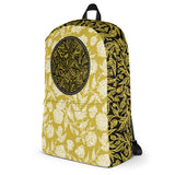 Flourish Collage - Backpack Black and Gold