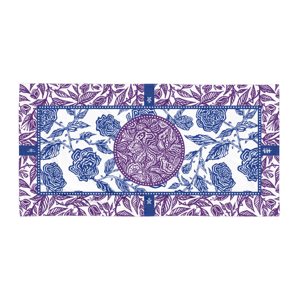 Flourish Towel - Purple and Blue