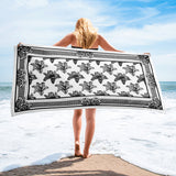 August Towel Black