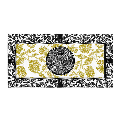 Flourish Towel - Black & Gold
