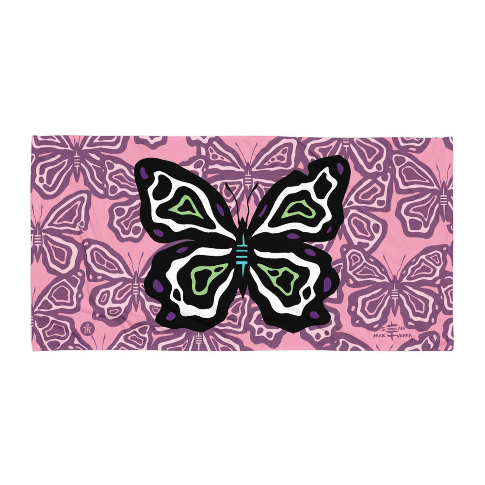 Butterfly Towel Pink