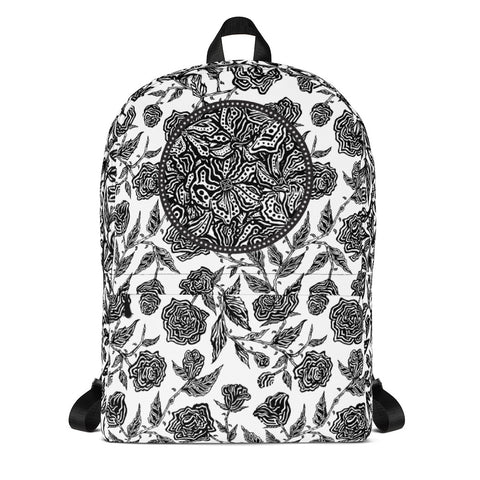 Flourish Collage - Backpack Black